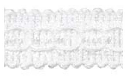 Gimp (Braided Trim) 22mm wide   - (per mtr) White